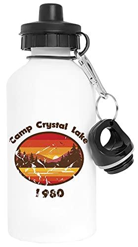 Camp Crystal Lake - Friday 13th Aluminio Blanco Botella de Agua Con Tapón de Rosca Aluminium White Water Bottle With Screw Cap