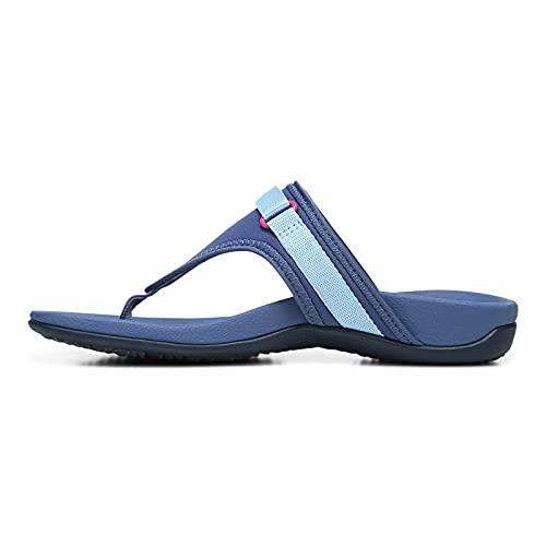 UCK Sandalias para mujer con soporte de arco ortopédico para soporte de arco y comodidad para fascitis plantar, pies planos, dolor de talón5.5 UK-azul