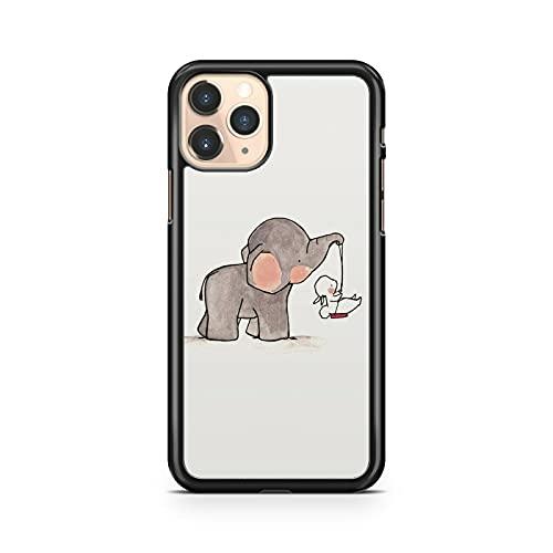 Adorable elefante cachorro empujando conejo Swing Cuddly Cute Animal Phone Case Cover Cover (modelo de teléfono: compatible con Samsung Galaxy S7 Edge)