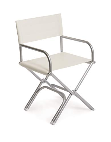FORMA MARINE Deck Chair, Boat Chair, Folding, Exclusive, Anodized, Aluminium, Vinyl White, Model ASTRON A6000VW