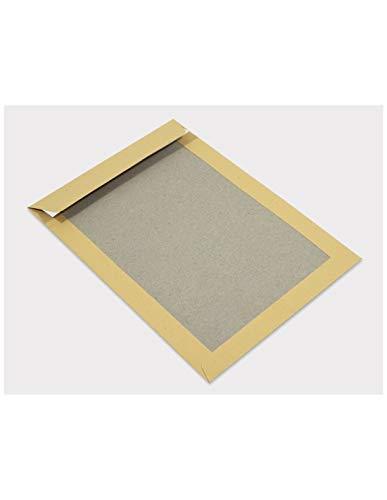 100x C4 Papprückwand Versandtaschen braun 229 × 324 mm Kuvert groß mit Papprücken 400g Briefhüllen mit Rückwand aus Graupappe braune Papprückwandtaschen Versandumschläge mit verstärktem Kartonrücken