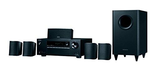 Onkyo HT-S3800(B) 5.1 Heimkinosystem mit AV Receiver und Lautsprecher (Dolby Atmos, 100 W/Kanal, Multiroom, Bluetooth, Radio, Front USB/Audio in), Schwarz