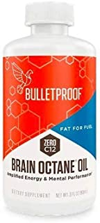Bulletproof Brain Octane MCT Oil, Perfect for Keto and Paleo Diet, 100% Non-GMO Premium C8 Oil, Ketogenic Friendly, Responsibly Sourced from Coconuts Only, Made in The USA, 3 Fl. Oz