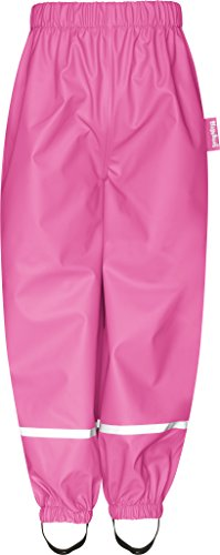 Playshoes Kinder Regenhose, Buddelhose zum Überziehen für Jungen, wind- und wasserdicht, Bundhose, Rosa (Pink 18), 128