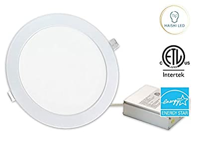"""8"""" and 11"""", Round and Square Recessed Ultra Slim Ceiling LED Down Light, Air Tight & IC Rated, ETL, Energy Star"""
