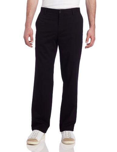 Dockers Men's Easy Khaki D2 Straight-Fit Flat-Front Pant, 32W x 32L, Black