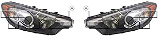 CarLights360: Fits 2014 2015 Kia Forte Headlight Assembly Driver and Passenger Side DOT Certified w/LED Position w/Bulbs Halogen Type - Replaces KI2502171 KI2503171