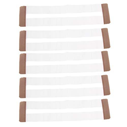 IPOTCH 5 Unids Extensor de Sujetador de Ropa Interior de Mujeres Bra Accesorios Diseño Transparente Invisible - Color de piel, tal como se describe