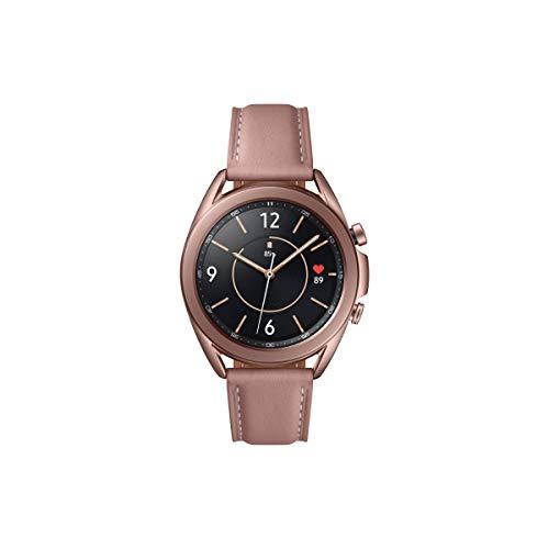 Samsung Galaxy Watch3, runde Bluetooth Smartwatch für Android, drehbare Lünette, Fitnessuhr, Fitness-Tracker, großes Display, 41 mm, bronze, inkl. 36 Monate Herstellergarantie [Exkl. bei Amazon]