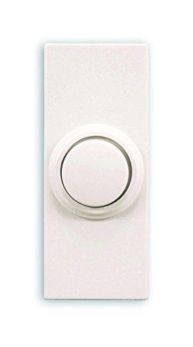 Heath Zenith SL-7393-02 Doorbell Wrls Push-Button Round, White