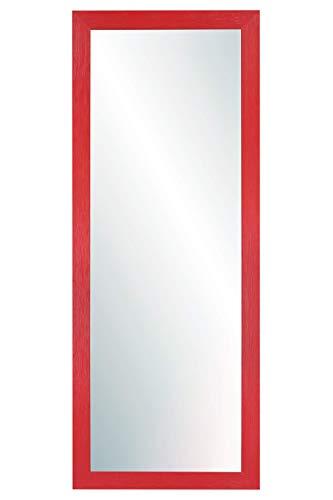 Chely Intermarket, Espejo de Pared Cuerpo Entero 35X100 cm(51,50x117cm)/Rojo/Mod-146, Ideal para peluquerías, salón, Comedor, Dormitorio y oficinas. Fabricado en España. Material Madera.