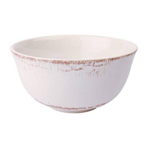Gina Da Schüssel Schale Müslischale Geschirr Keramik Blau Rosa Weiß - Serie Tosca M Shabby Chic Landhaus (Weiß)
