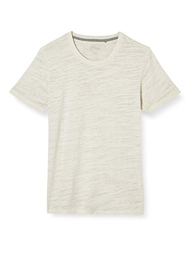 s.Oliver Herren 130.11.899.12.130.2037840 T-Shirt, 0332 Light beige, L