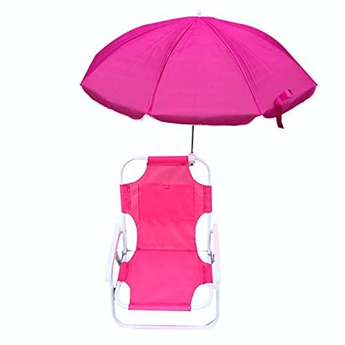 WHIO Sillas plegables de playa y paraguas para niños, reclinables al aire...