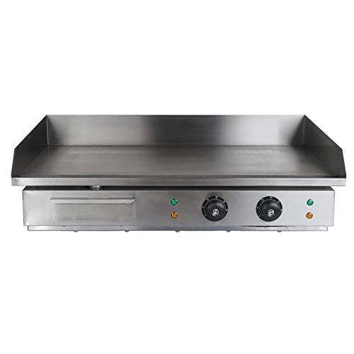Iglobalbuy Parrilla eléctrica plancha gastronomía (4400W)