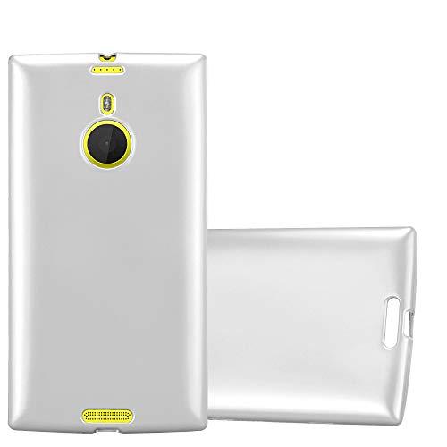 Cadorabo Hülle für Nokia Lumia 1520 - Hülle in METALLIC Silber – Handyhülle aus TPU Silikon im Matt Metallic Design - Silikonhülle Schutzhülle Ultra Slim Soft Back Cover Case Bumper