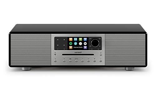 sonoro MEISTERSTÜCK Kompaktanlage mit CD-Player, Bluetooth und Internetradio (UKW/FM, WLAN, DAB Plus, Spotify, Amazon, Tidal, Deezer) Schwarz 2020