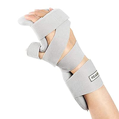 REAQER Stroke Resting Hand Splint Night Immobilizer Muscle Atrophy Rehabilitation In The Hands, Wrists And Fingers (Right)