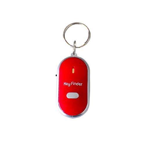 MOHAN88 Sensor de silbido inalámbrico Buscador de Llaves Buscador de Llaves Inteligente Sensor de silbido Anti-perdida Rastreador de llaveros Localizador de silbidos y aplausos LED - Rojo