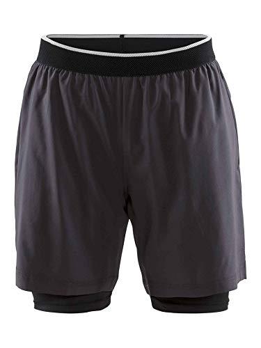 Craft Charge 2in1 Shorts-Dunkelgrau, Schwarz Pantalon Homme, Gris foncé, XXL