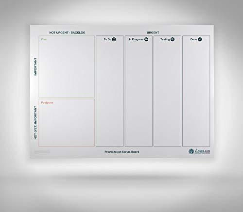 Vi-Board Prioritization Scrum Board/ Whiteboard: Enrollable