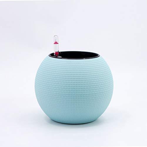 LiuJF-Home Accessoires Plant Opslag bloempot, Imitatie rotan geweven bloempot indoor bureaubladvensterbank Bolvormige bloempot Automatische waterabsorberende bloempot