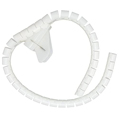 Manguito de tubo en espiral, Manguito de gestión de cables Resistencia a la temperatura de 10 m Flexible con alto punto de ignición para entornos de oficina(Φ8mm)