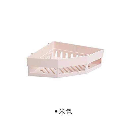 RAQ hoekplank, zonder perforatie, hoekrek, wasrek, naadloos wandrek, stopcontacten, badkamerrek, Australië, crèmewit