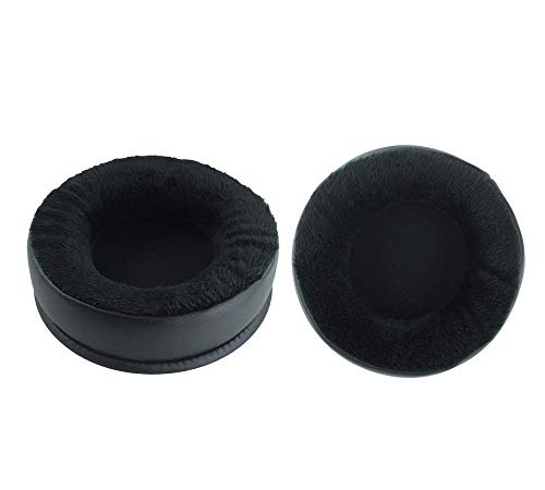 1 Pair of Ear Pads Cushion Cover Earpads Replacement for Superlux HD668B HD681 HD681B HD662 Headset (Velvet Leather)