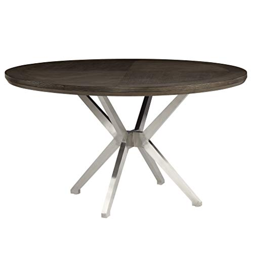 Homelegance Round Dining Table, 54' Dia, Gray
