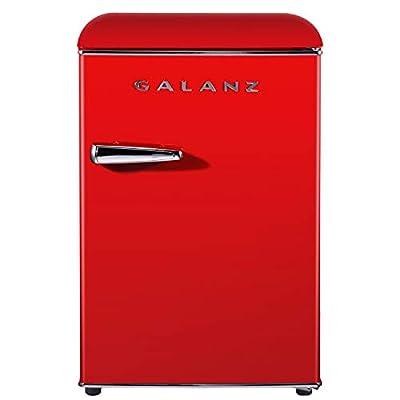 Galanz GLR25MRDR10 retro-compact-refrigerator, 2.5 Cu Ft, Red