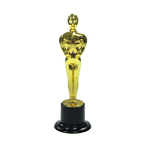 Treasure Gurus Gold Movie Award Trophy Statue Hollywood Red Carpet Party Favor Oscar Ceremony Decor