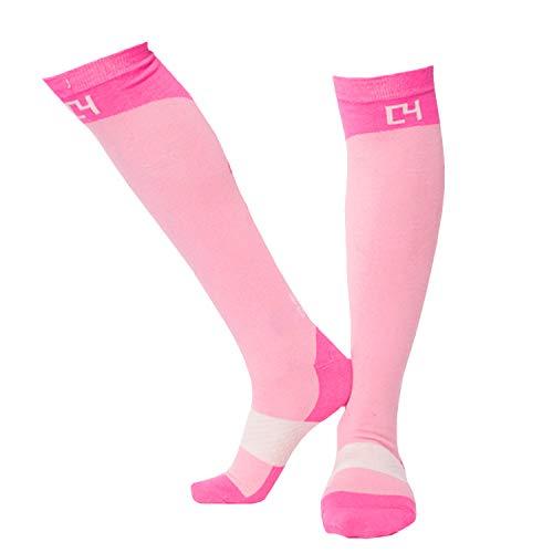 C4 Belts – High Performance Equestrian Riding Boot Sock, Pink