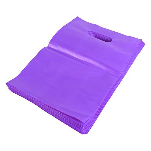ibasenice Bolsas de Artículos de 100 Piezas con Asa - Bolsas de Plástico para Compras - Bolsas Reutilizables Y Duraderas para Regalos Camisas Tiendas