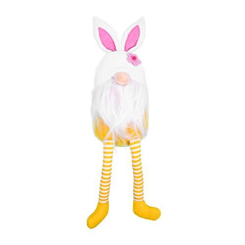 SOIMISS 40CM Ostern Gnom Schwedische GNOME mit Hasenohren Kaninchen Tomte Zwerge Figuren Wichtel Ornament Sammelfigur für Kinder Frühlingsfest Ostern Spielzeug Geburtstag Geschenke Gelb