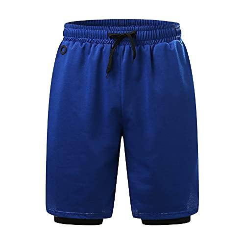 N\P Pantalones cortos de deporte de verano de los hombres cortos masculinos casuales pantalones cortos