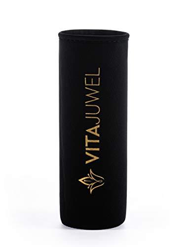 VitaJuwel Schutzhülle für ViA und inu! Wasserflaschen | Neopren, Schwarz