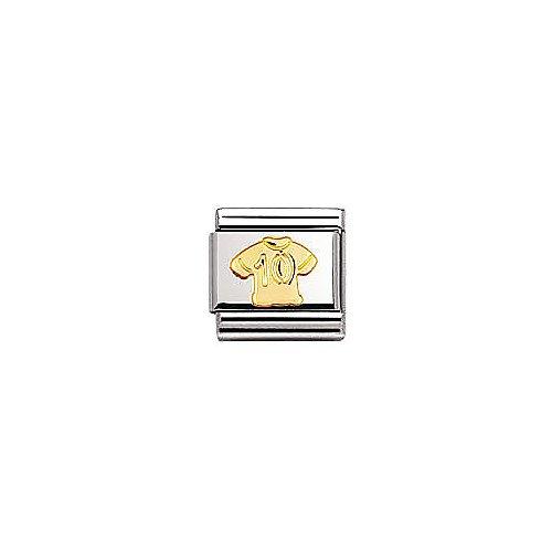 Nomination Composable Classic Sport Edelstahl und 18K-Gold (Trikot 10) 030106