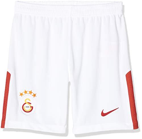 Nike Kinder Galatasaray Istanbul Shorts Auswärt Stadium 2017/2018, weiß/rot, XL-158-170 cm