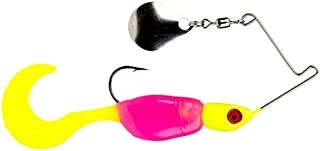 Strike King Lures Mr. Crappie Spin Baby Lure, 1/8 oz, 4 Hook, Hot Chicken.com, Package of 1
