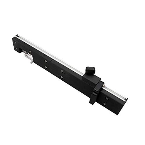 Mitre Gauge Router Tabla guía de la sierra Bloque de empuje de precisión con Push manija de aluminio de Tenon límite extraíble de retención del disco (plata)