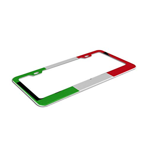Quality Aluminum License Plate Frame Italy Flag Italian Map Cool Design For Any Vehicle Car