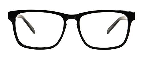 GLOBAL VISION Montatura per occhiali da vista da uomo in acetato - Made in Italy (C1 - Nero)