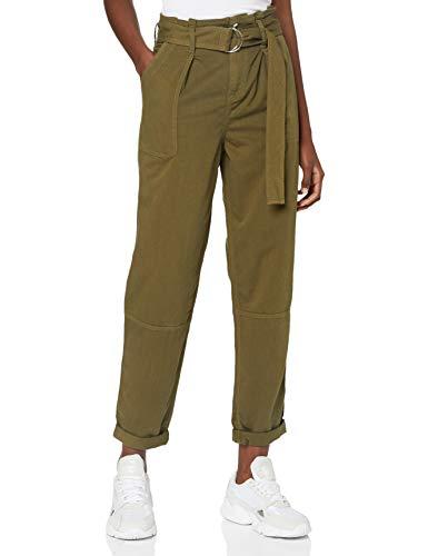 Miss Selfridge Khaki Hang Tab Trousers Pantaloni, Cachi, 8 Donna