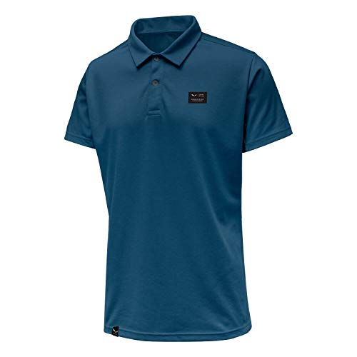 Salewa DRI-Release Dry M S/S Polo Homme, Premium Navy, FR : 5XL (Taille Fabricant : 3980)