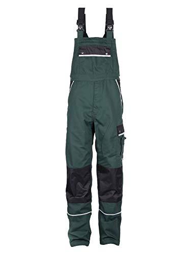 TMG Arbeitslatzhose Herren | Schutz-Latzhose mit Kniepolster-Taschen & Reflektoren | Garten- & Landschaftsbau | Grün 50