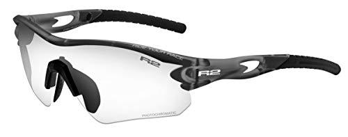 R&R R2 Proof - Gafas de Sol para Deportes de Invierno (Cristales polarizados), Color Cromado, Gris