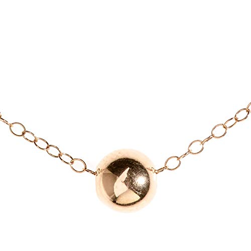 Collana con sfere in oro rosa Collana con perle in oro rosa minimalista lunghezza 41 cm / 16 pollici + 5 cm di estensione