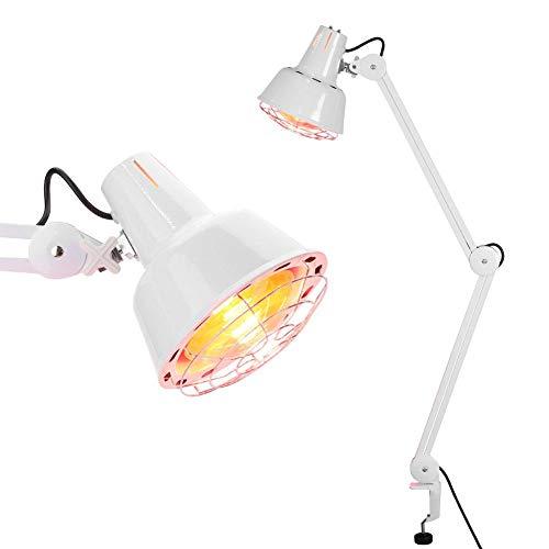 Greensen Infrarotlampe Wärmelampe Heizungstherapie-Lampe Infrarot Licht Physiotherapie Lampe Einstellbarer Rotlichtlampe Clip Schönheitslampe Rotlicht Strahler, Körper Muskel Schmerzlinderung
