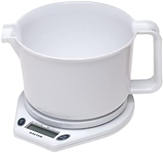 Salter 2005 11-Pound Microtronic Kitchen Scale with Jug, White
